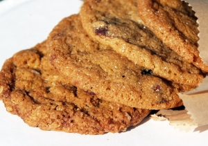 Four delicious cookie varieties, including the Maple Bacon Cookie, from Cookie Confidential