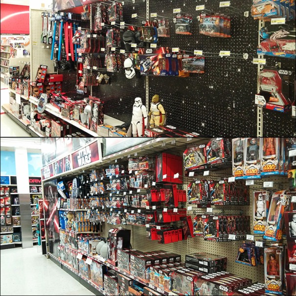 Two large stores new Star Wars  replenished merchandise displays. Does anyone know what this film will be about?